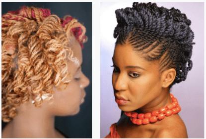 Coiffures cheveux en transition