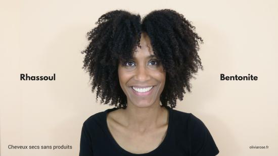 cheveux secs afro crépus naturels argile bentonite rhassoul
